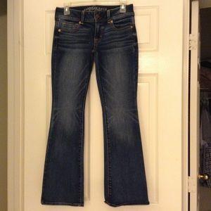 American Eagle Favorite Boyfriend dark denim jeans